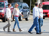 Kate Huson walked with Matthew Bellamy and Kurt Russell in Santa Barbara, CA.