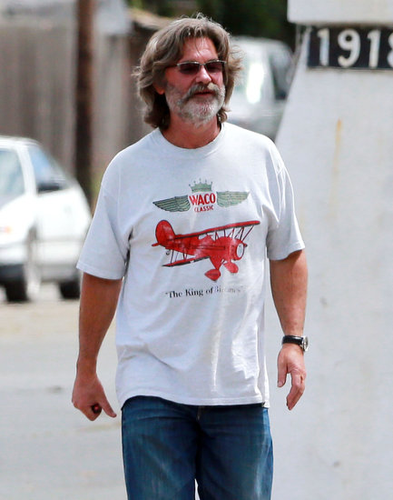 Kurt Russell went wine tasting on Monday.