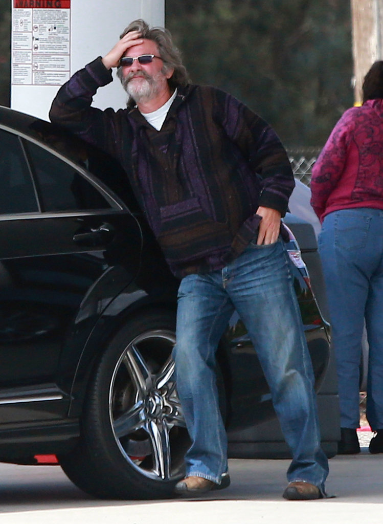 Kurt Russell lounged in Santa Barbara, CA.