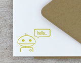 Robot Note Card Set