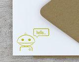 Robot Note Card Set