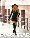 Blake Lively wore sexy high boots for a photo shoot in NYC.