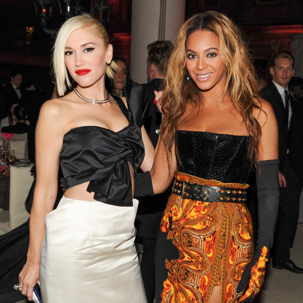 Gwen Stefani and Beyoncé Knowles turned pop into punk for the Met Gala in NYC. Source: Billy Farrell/BFANYC.com