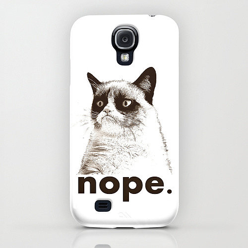A Grumpy Cat ($35) case to start your day the right way.