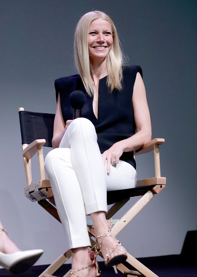 Gwyneth Paltrow introduced her Goop app at the Apple store in SoHo, NYC.