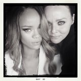 Stella McCartney stopped by to catch Rihanna's show in London. Source: Instagram user stellamccartney