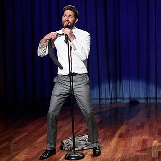Video of John Krasinski Lip Syncing With Jimmy Fallon