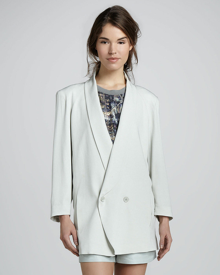It's not all about dresses — embrace the decade's menswear vibe with this Band Of Outsiders girl. by Band of Outsiders Cabrini blazer (£399.42).