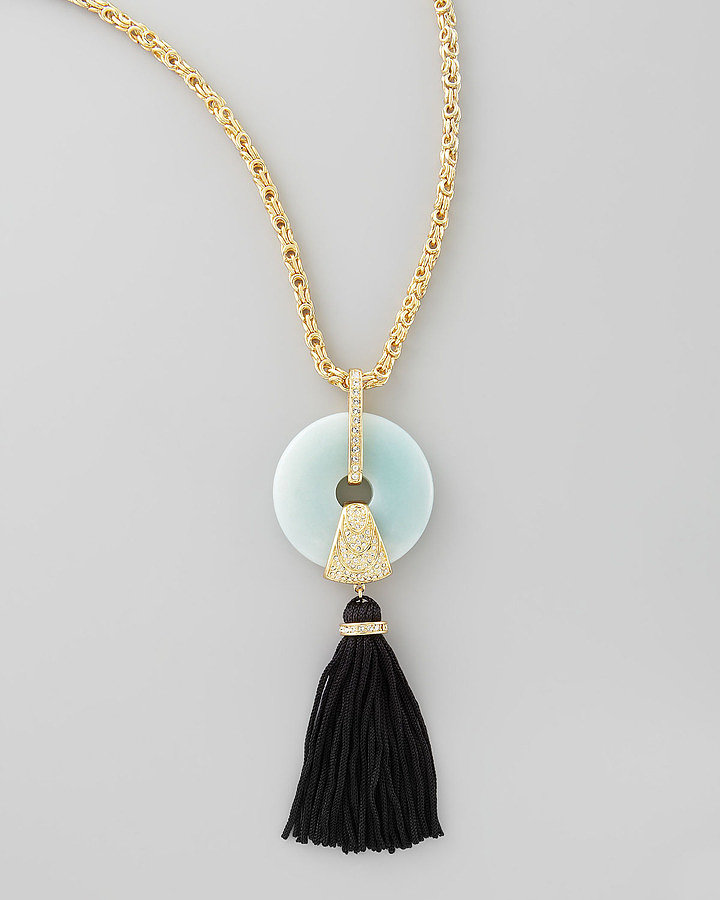 This Rachel Zoe Amazonite tassel pendant ($325) would add a little '20s flair to even white tees and jeans.