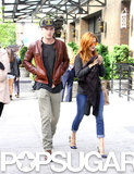 Nicholas Hoult walked in NYC with his costar Riley Keough.