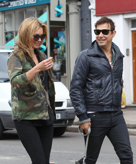 Kate Moss and Jamie Hince laughed together during a walk through London.