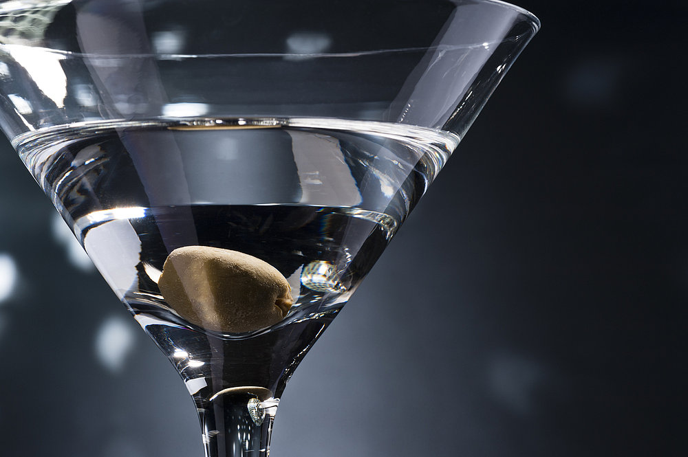 Dry Martini With One Olive
