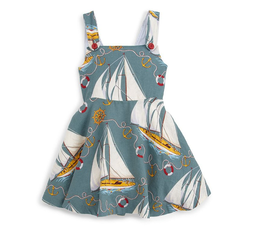 A POPSUGAR favorite, this sailboat dress ($60) will ensure she steals the show. The back has a cute cutout complete with a bow!