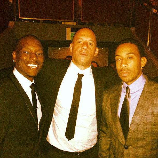 Fast & Furious 6 boys Tyrese Gibson, Vin Diesel, and Ludacris posed together during the film's London red carpet premiere. Source: Instagram user itsludacris