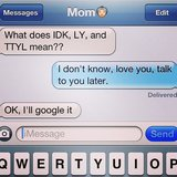 Silly mom, acronyms are for kids.  Source: Instagram user jafbryant