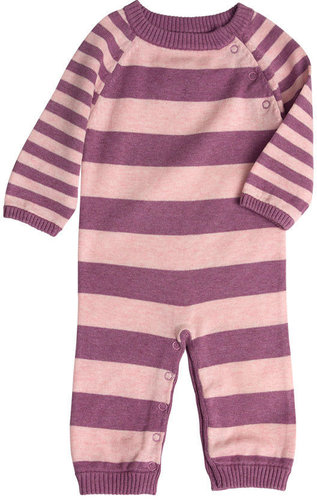 Stripe Knit Layette - Pink