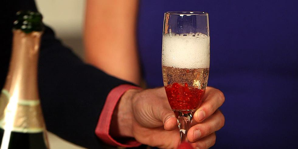 Make Mom a Raspberry Bellini For Mother's Day!
