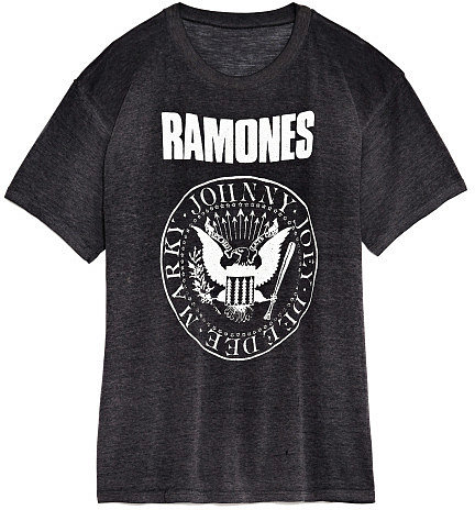 M'O Vintage Faded Black The Ramones Tee