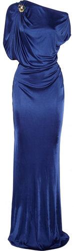 Roberto Cavalli Draped satin-jersey gown