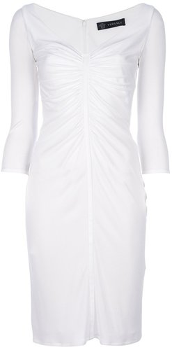 Versace ruched dress