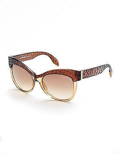 ROBERTO CAVALLI Textured Cat-Eye Sunglasses