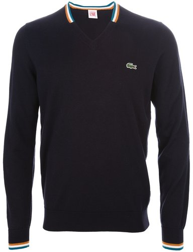Lacoste Live v neck sweater