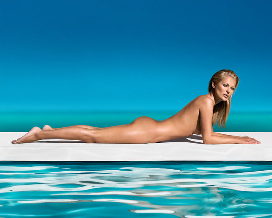 Kate Moss Wears Nothing but a St. Tropez Tan