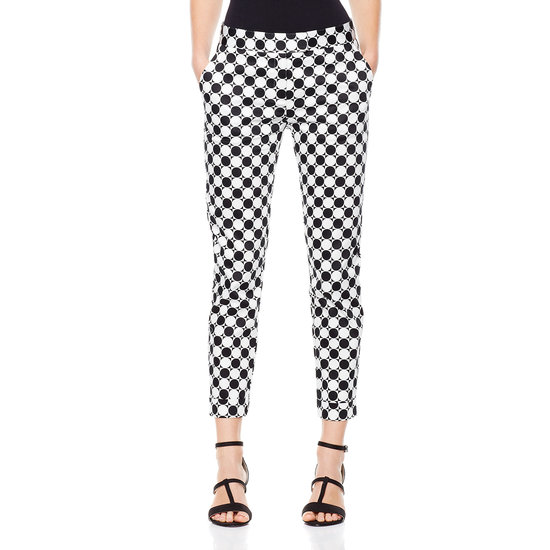 "Twiggy LONDON Polka Dot Skinny Pants Printed denim is one of the season's hottest street styles, and this ""nod to mod"" design from swinging London sensation Twiggy is a timelessly cool way to rock the trend."