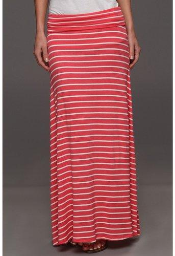 Culture Phit - Easton Stripe Maxi Skirt (Coral) - Apparel