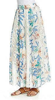 NY Collection Printed Maxi Skirt