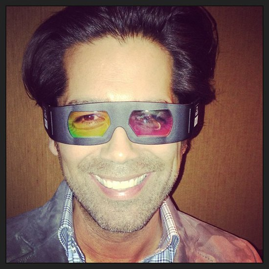 Brian Atwood showed off his 3D glasses from the NYC screening of The Great Gatsby. Source: Instagram user brian_atwood