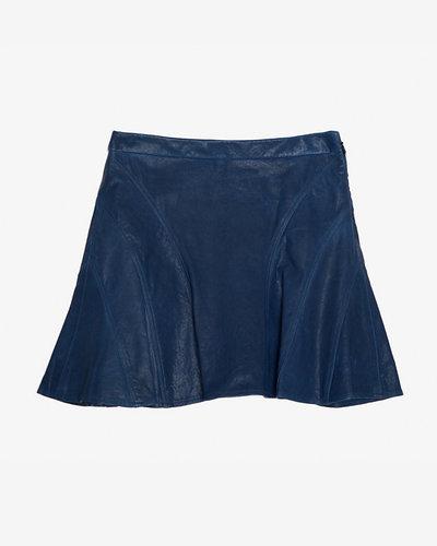 10 Crosby Derek Lam Leather Flare Skirt