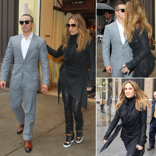 J Lo and Casper Sneak a Kiss on the City Streets