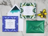 If you need any excuse to entertain this Summer, then let these tropical invitations be it! The blue tweed paper is fitting for a chic pool party, while the parrot tulip paper (prices vary) is fun for a casual brunch.