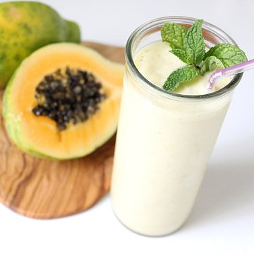 Papaya Mint Ginger Smoothie Recipe