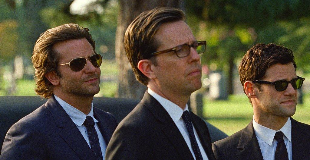 The upside of a funeral? Bradley Cooper in a suit.