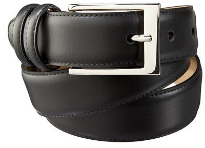 Merona® Men's Belt - Black with Silver Buckle