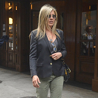Jennifer Aniston Wearing Cargo Pants in NYC