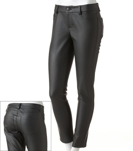 Lc lauren conrad skinny faux-leather pants