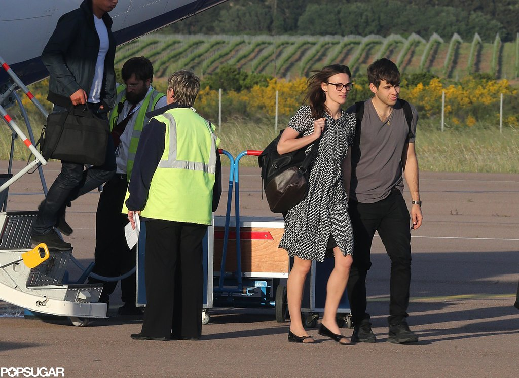 James Righton and Keira Knightley arrived in Corsica.