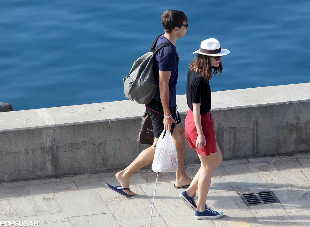 James Righton and Keira Knightley took a stroll.