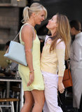Cameron Diaz and Leslie Mann got up close and personal in NYC while acting out a scene for The Other Woman on Tuesday.