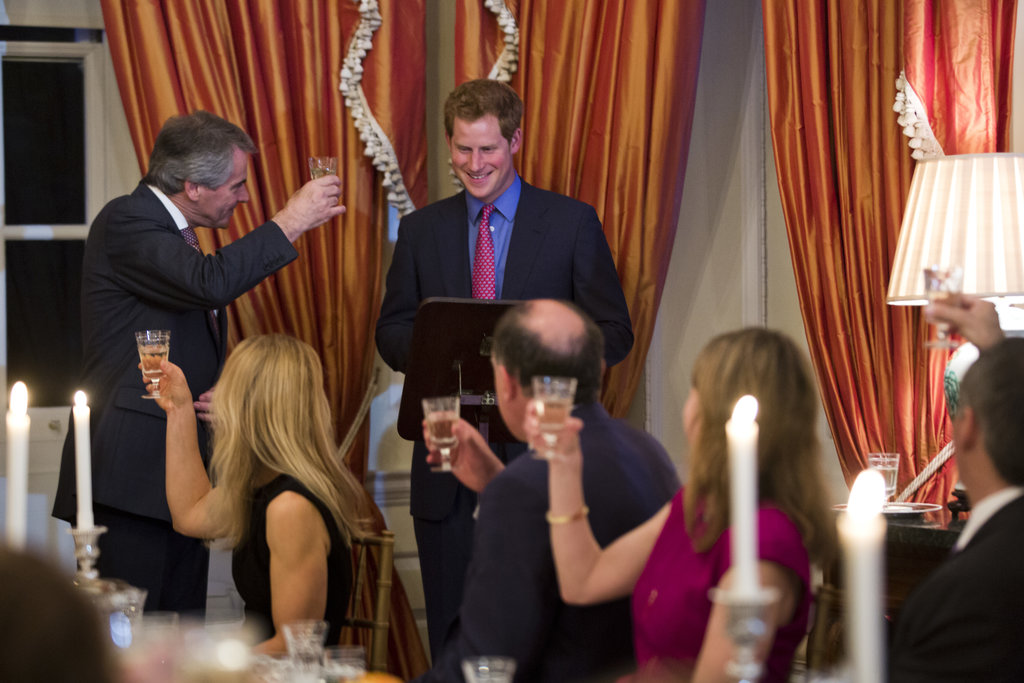 On Thursday, Prince Harry got toasted during a dinner at the British Ambassador's home in Washington DC.