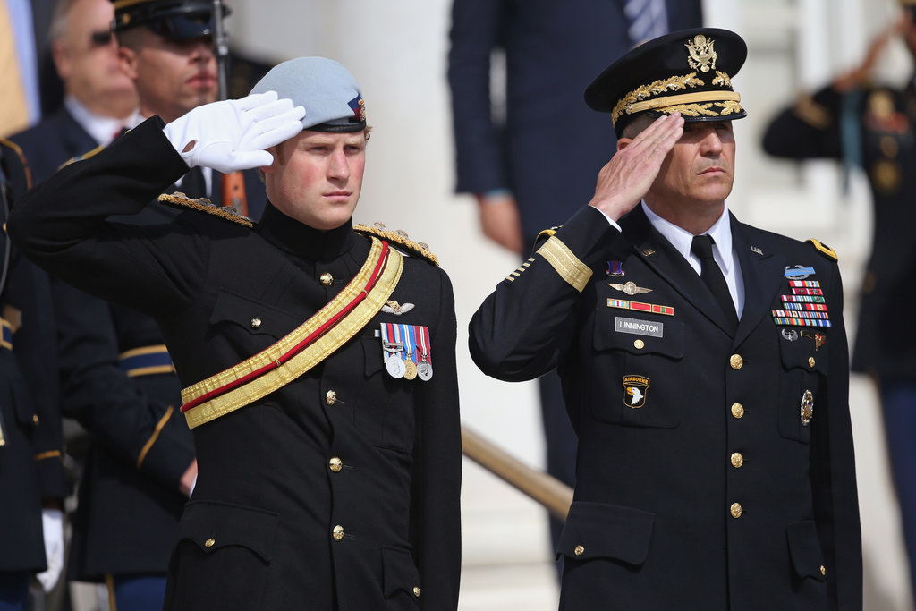 On Thursday, Prince Harry visited Arlington National Cemetery in Virginia.