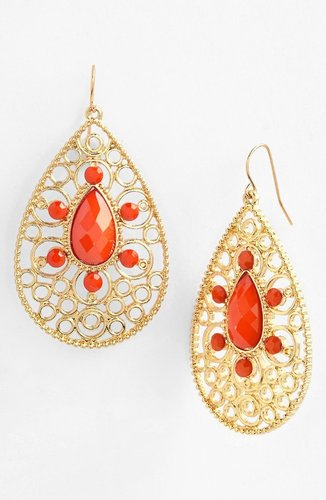 Tasha Filigree Teardrop Earrings