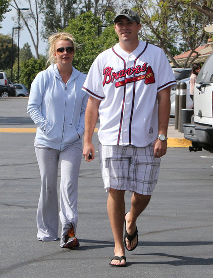 Britney Spears ran errands with her new boyfriend, David Lucado.
