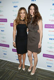 Jennifer Lopez was accompanied by her sister, Lydia, at a motherhood event in NYC.