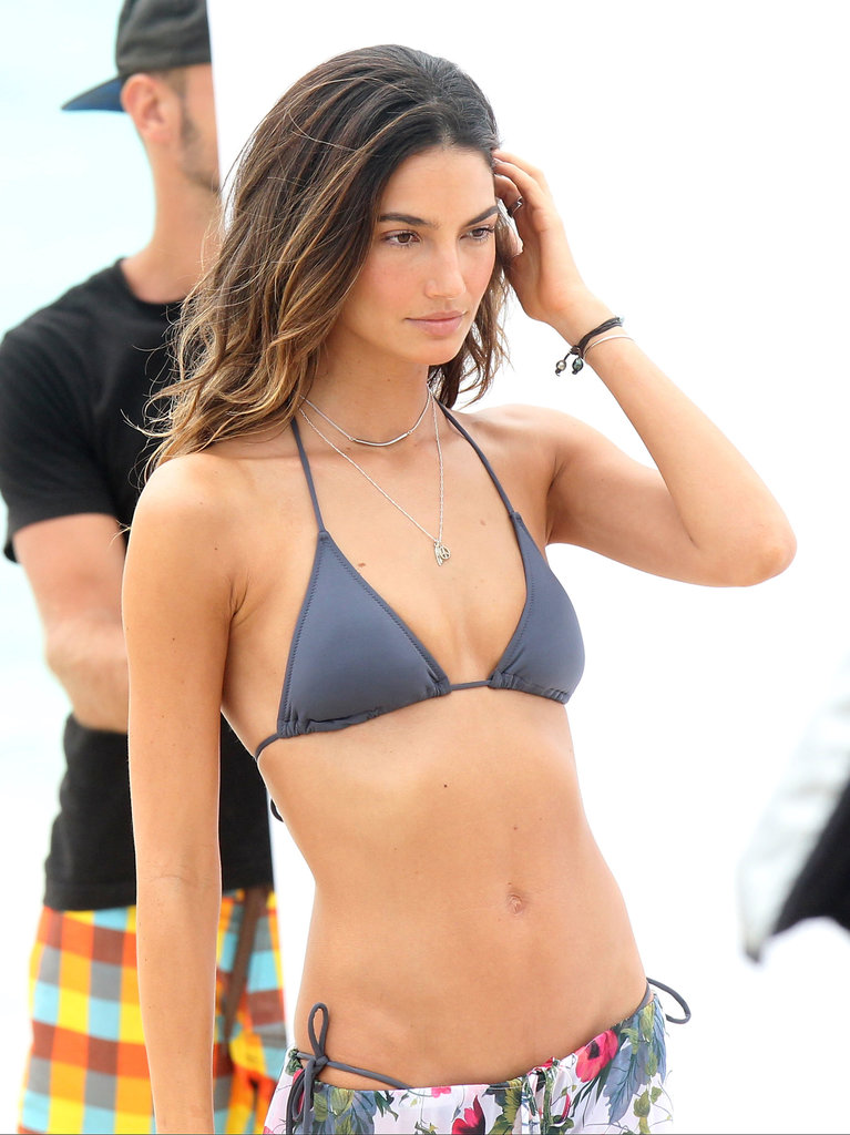 Lily Aldridge worked her stuff for the camera.