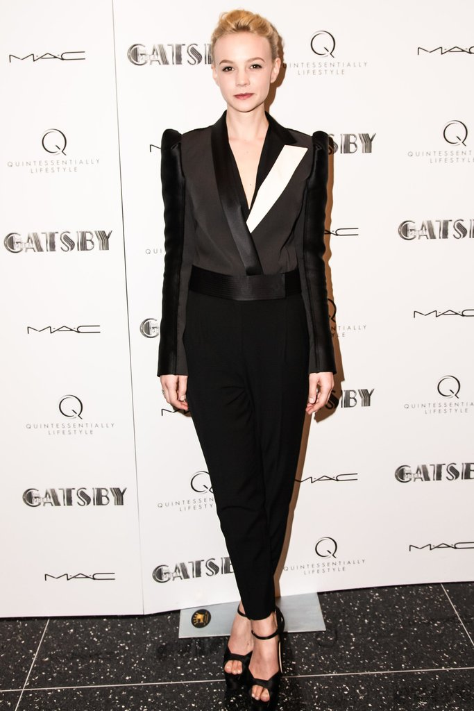 Carey Mulligan wore Spring 2013 Lanvin at The Great Gatsby's private screening in New York. Source: Matteo Prandoni/BFAnyc.com