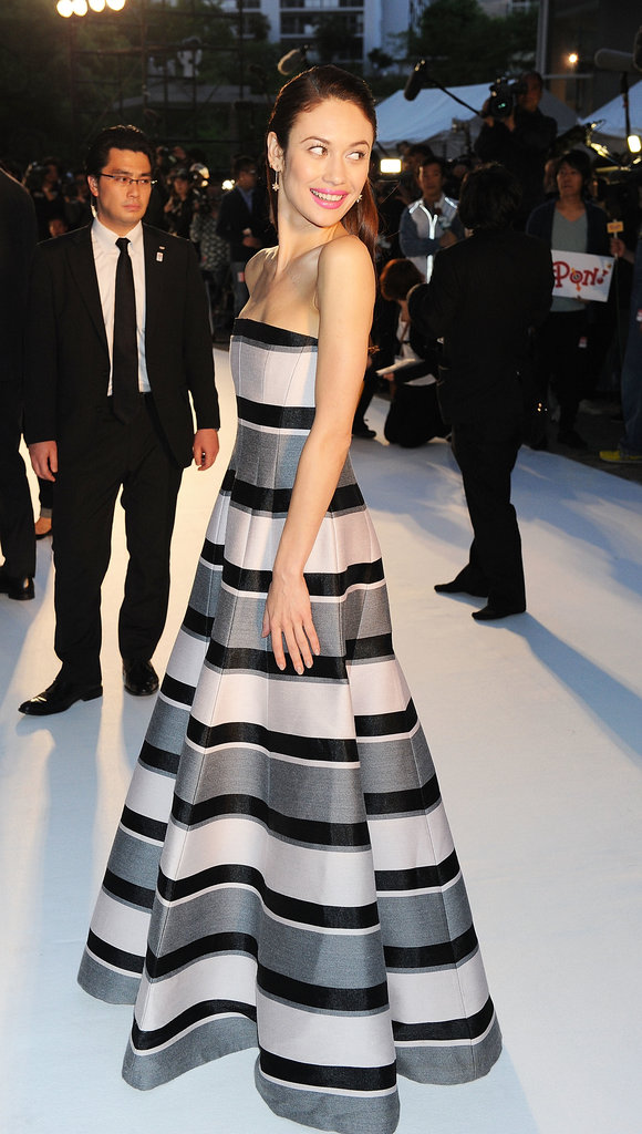 Olga Kurylenko wore pre-Fall 2013 Christian Dior at the Oblivion premiere in Tokyo.